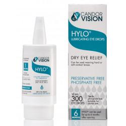 Hylo eye drops